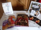 A display of ArtServe literature and a couple of Clive's books